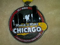 Chicago rnr half medal