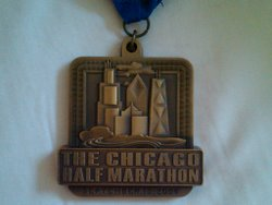 Chicago half medal