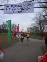 Des Plaines River Half Finish Line