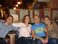 Wes, Minda, Marty and Kristin at Flatbread