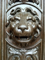 Door carvings at Victoria Mansion