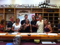 The whole crew at Domaine Berrien