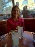 Sipping margaritas