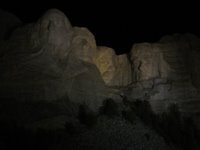 Mt. Rushmore against the night sky