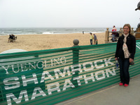 Kristin With Shamrock Sign